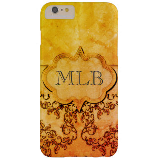 Vintage Damask & Monogram by Leslie Harlow Barely There iPhone 6 Plus Case