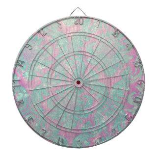 vintage damask nouveau teal pink chic tapestry dart board