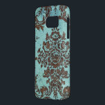 "Vintage Damask Pattern Samsung Galaxy S7 Case<br><div class=""desc"">Elegant,  grunge print for the Samsung Galaxy S (T-Mobile Vibrant) Case-Mate Barely There™ Cases</div>"