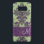 "Vintage Damask Pattern with Monogram Case-Mate Samsung Galaxy S8 Case<br><div class=""desc"">A grunge,  floral design with an area for your initial. Be a trendsetter with this elegant,  sophisticated cover.</div>"