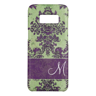 Vintage Damask Pattern with Monogram Case-Mate Samsung Galaxy S8 Case