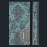 "Vintage Damask Pattern with Monogram Cover For iPad Mini<br><div class=""desc"">A grunge design with a modern twist. Add your name or monogram. If you need to make adjustments to the artwork,  click on the customize it button to make changes.</div>"