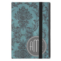 Vintage Damask Pattern with Monogram Cover For iPad Mini