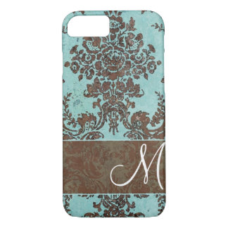 Vintage Damask Pattern with Monogram iPhone 8/7 Case