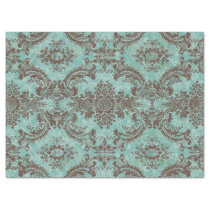 Vintage Damask Pattern with Monogram Tissue Paper