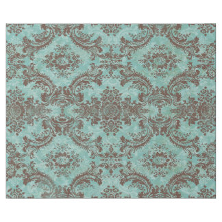 Vintage Damask Pattern with Monogram Wrapping Paper