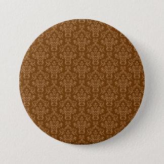 Vintage damask pinback button