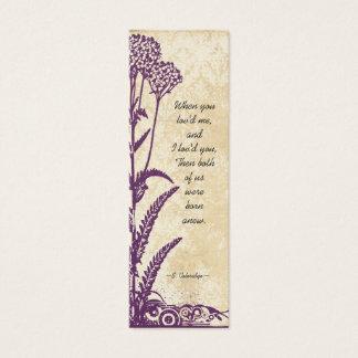 Vintage Damask Purple Wild Flower Wedding Tags