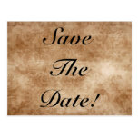 Vintage Damask Save The Date! Postcards