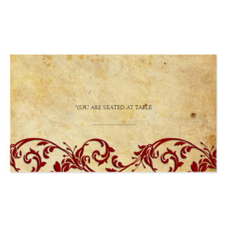 Vintage Damask Swirl Wedding Placecards Double-Sided Standard Business Cards (Pack Of 100)
