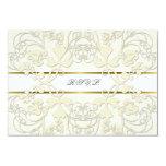 Vintage Damask Swirls Lace Elegant Wedding RSVP Personalized Announcement