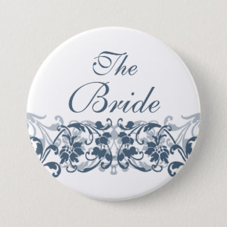 Vintage Damask The Bride Button / Pin