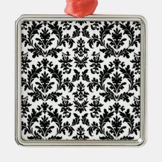 Vintage Damask Wallpaper Metal Ornament