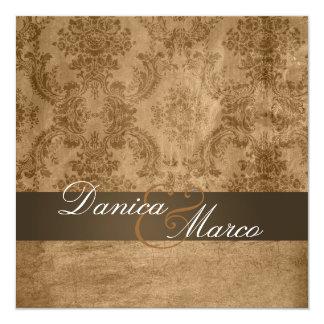 Vintage Damask Wedding Invitations