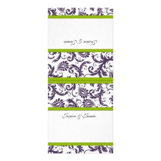 Vintage Damask Wedding Place Cards Full Color Rack Card
