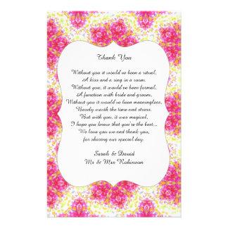 Thank You Wedding Gift Poem : Thank You Flyers & Programs Zazzle