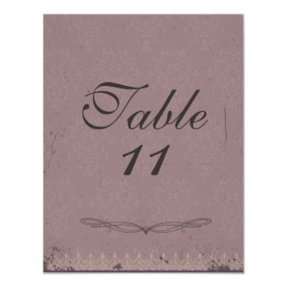 Reasonable Gift Card Amount For Wedding : Vintage Damask Wedding Table Numbers Card