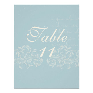 Vintage Damask Wedding Table Numbers Personalized Invitation