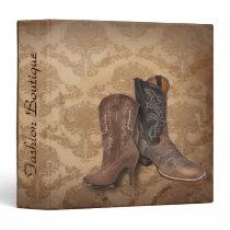 vintage damask western country cowboy binder