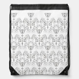 Vintage Damasks Wallpaper - black + your backgr. Cinch Bags