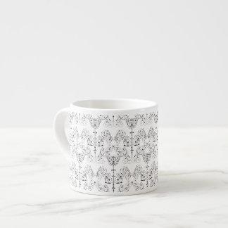 Vintage Damasks Wallpaper - black + your backgr. Espresso Mugs