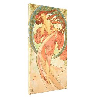 Vintage Dance by Alphonse Mucha Canvas Print