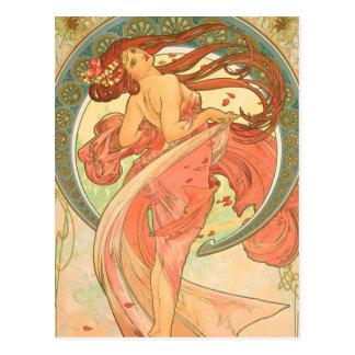 Vintage Dance by Alphonse Mucha Postcard