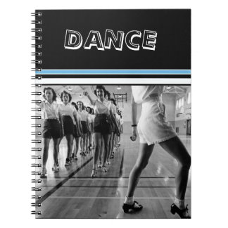 Vintage Dance Class One Subject Photo Notebook