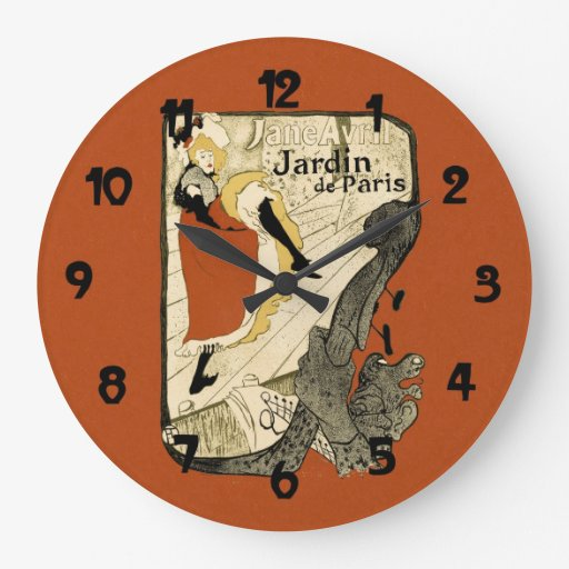 Vintage Dance Hall Can Cna Poster Art Clocks