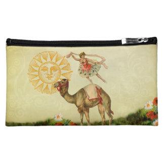 Vintage Dancer on a Camel Cosmetic Bag