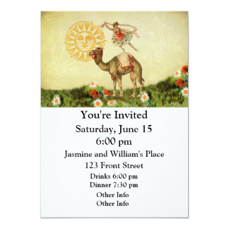 Vintage Dancer on a Camel Personalized Invitations