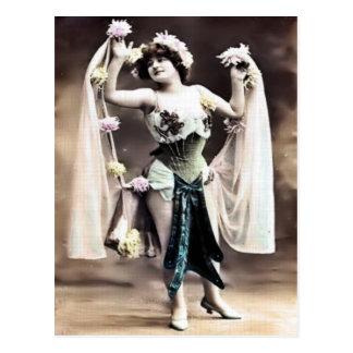Vintage Dancer Postcard