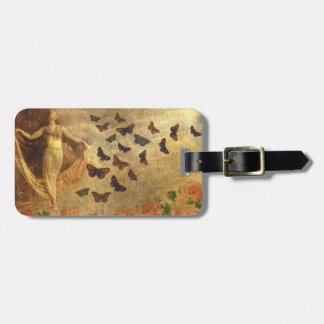 Vintage Dancer with Sheet Music and Butterflies Travel Bag Tags