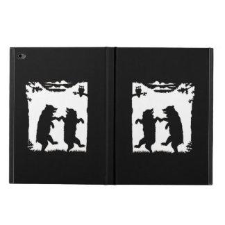 Vintage Dancing Bears Black Silhouette Trees Owl Powis iPad Air 2 Case