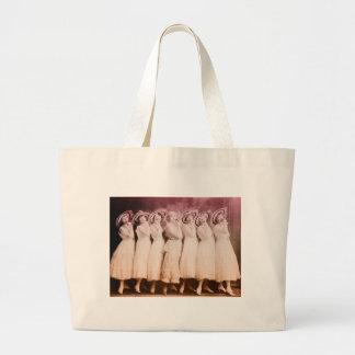 Vintage Dancing Beauties Jumbo Tote Bag