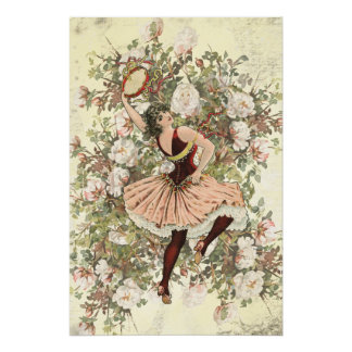 Vintage Dancing Gypsy Floral Mix and Match Poster