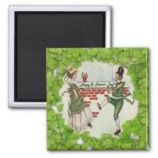 Vintage Dancing Irish Couple Magnets