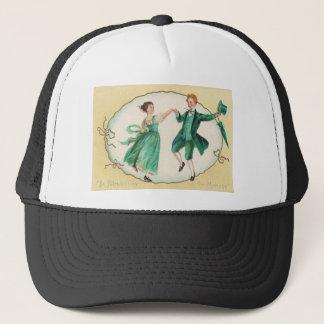 Vintage Dancing St Patrick's Day Card Trucker Hat