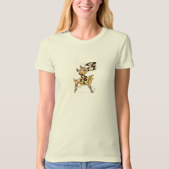 Vintage Dancing Woman in Yellow T-Shirt