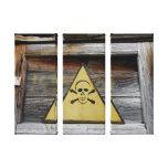 Vintage Danger Sign On Rustic Wood