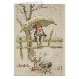 Vintage Danish Glaedelig Jul Christmas Card