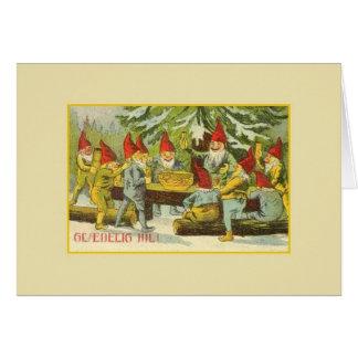 Vintage Danish Gnome Glædelig Jul Christmas Card