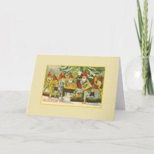 Danish christmas cards zazzle vintage danish gnome gldelig jul christmas card m4hsunfo
