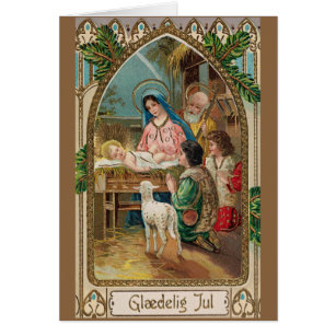Danish christmas greeting gifts on zazzle vintage danish religious christmas greeting card m4hsunfo