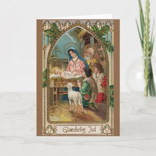 Danish christmas cards zazzle vintage danish religious christmas greeting card m4hsunfo