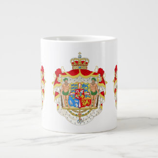 Vintage Danish Royal Coat of Arms of Denmark Large Coffee Mug