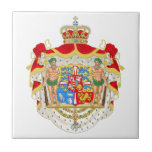 Vintage Danish Royal Coat of Arms of Denmark Tiles