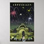 Vintage Danish Travel Poster to Copenhagen