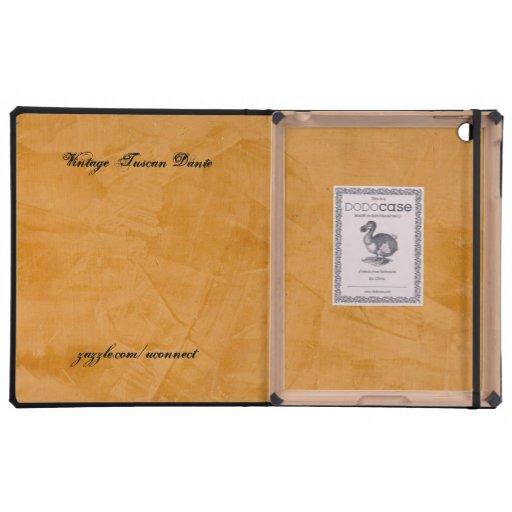 Vintage Dante toscano DodoCase iPad Carcasa