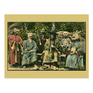vintage Darjeeling, group of lamas Post Card
